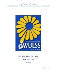 AVULSS Ancona - Bilancio Sociale 2011 - CSV Marche