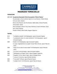 CV MAURZIO TOMACIELLO .pdf - Cannizzo Management