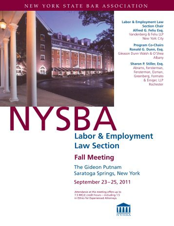 Labor & Employment Law Section - Proskauer Rose LLP
