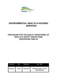 Procedure for quality monitoring of health and safety inspections