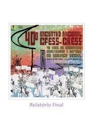 Leia o relatório final do 40º Encontro Nacional CFESS-CRESS