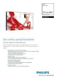 BDL4681XU/00 Philips LCD-monitor - Digital Signage Store