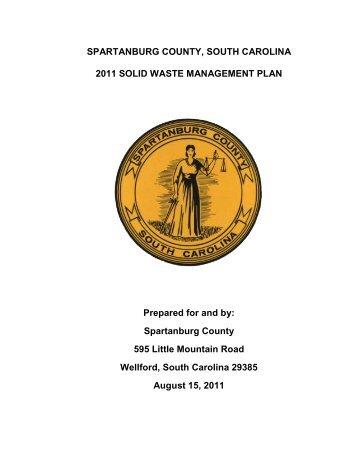 Solid Waste Management Plan - Spartanburg County