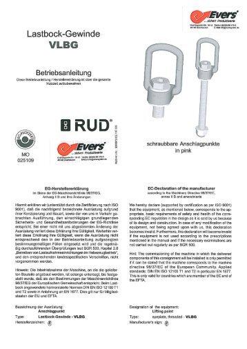 Lastbock»Gewinde VILE - Evers GmbH