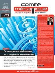 Développement du business - Comité mécanique Ile-de-France