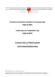 fornitura PAB H2 BPC - Provincia Autonoma di Bolzano