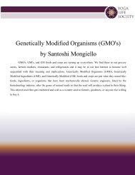 Genetically Modified Organisms (GMO's) by ... - Yoga Life Society