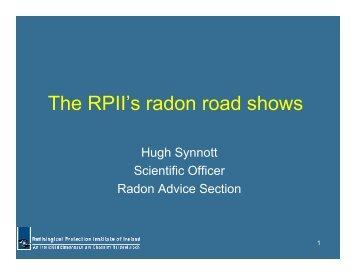 The RPII's radon road shows