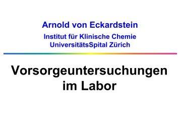 Vorsorgeuntersuchungen im Labor - Institut für Klinische Chemie ...