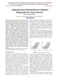 Authentication Method Based on Hashes Fingerprint For fast retrieval