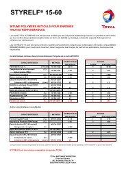 STYRELF® 15-60 - total raffinage marketing