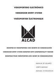 videoportero electrónico videodoor entry system vidéoportier ... - Alcad