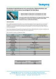 Einzelbatterie-Notlichtelement mit automatischer Selbsttestfunktion ...