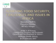 Achieving Food Security, challenges and issues in Africa
