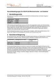 Garantieunterlagen - German Solar