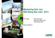 Marketing lĩnh vực Bất Động Sản năm 2011 ất ộ g Sả ... - Buildviet.info