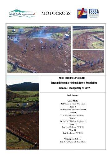 MOTOCROSS - Taranaki Secondary School Sport Association