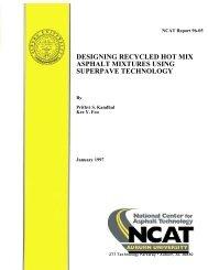 Designing Recycled Hot Mix Asphalt Mixtures ... - Auburn University