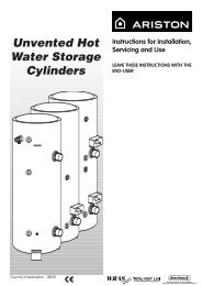 Unvented Cylinder Manual - BHL.co.uk