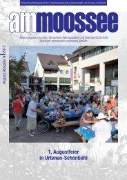 1. Augustfeier in Urtenen-Schönbühl - Einwohnergemeinde ...