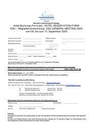 Hotel-Buchungs-Formular/ HOTEL RESERVATION FORM ESU ...