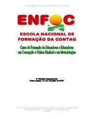 caderno de textos i modulo curso sul enfoc/2007 - Contag