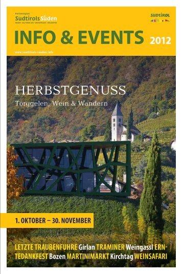 1. OKTOBER - Südtirols Süden
