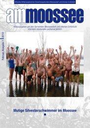 Mutige Silvesterschwimmer im Moossee - Einwohnergemeinde ...