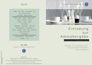 Einladung zur Amtsübergabe - Kiwanis Fraubrunnen