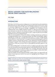 MOHS SURGERY FOR NON-MELANOMA FACIAL SKIN CANCERS