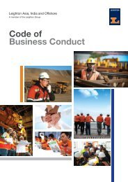 Code of Business Conduct - Leighton Asia