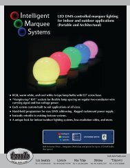 LED DMX-controlled marquee lighting for indoor and outdoor ...