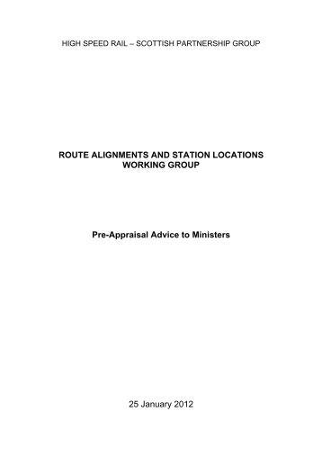 Pre-appraisal guidance - Transport Scotland