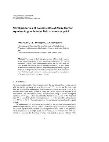 Novel properties of bound states of Klein–Gordon equation in ...