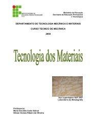 departamento de tecnologia mecânica e materiais curso ... - IFBA