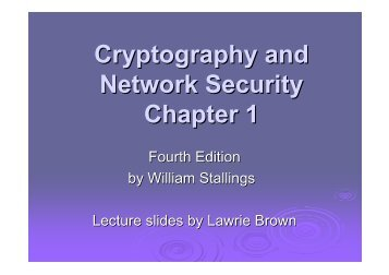Cryptography and Network Security Chapter 1 - dEIC