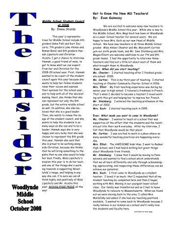 October Insider Paper.pub - Woodlynde School
