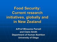 Food Security: Current research initiatives, globally and in New ...