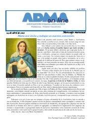 María nos invita a trabajar en nuestra conversión