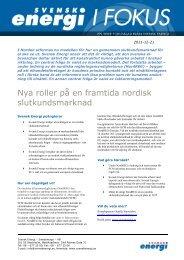 Fokusblad - Svensk energi