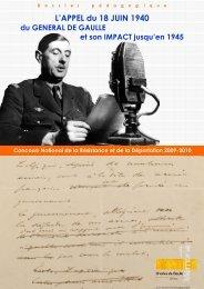 L'APPEL du 18 JUIN 1940 - Histoire géographie Dijon