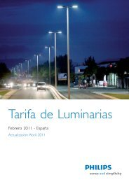 Tarifa de Luminarias - Philips