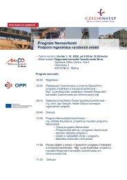 Program Nemovitosti - Podpora regenerace výrobních ... - CzechInvest