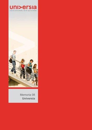 Memoria 2008 - Universia
