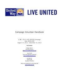 Campaign Volunteer Handbook 2012 (PDF) - United Way of the ...