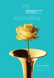 Abonmajska knjižica KROMATIKA 2010/11 - RTV Slovenija
