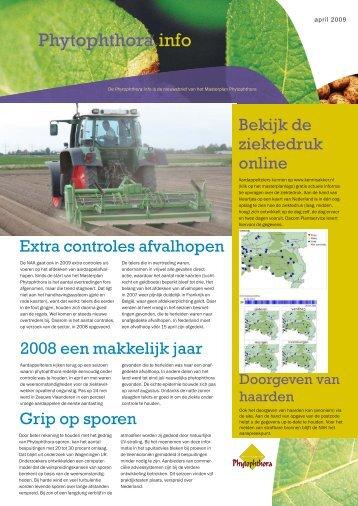 Phytophthora info 2009 (pdf - 6 pagina's) - Kennisakker.nl