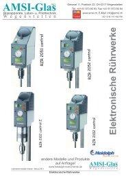 Elektronische Rührwerke Heidolph - AMSI Glas AG, Glasapparate ...