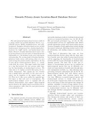 Towards Privacy-Aware Location-Based Database Servers∗
