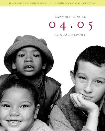 Rapport annuel 2004-2005 - The Children's Aid Society